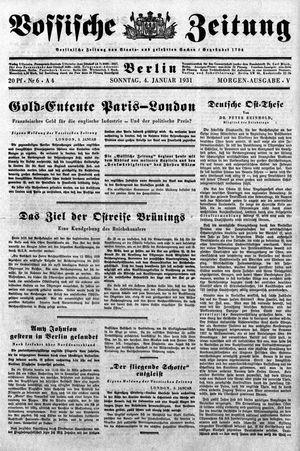 Vossische Zeitung vom 04.01.1931