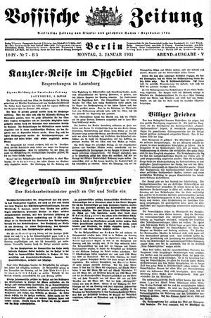 Vossische Zeitung vom 05.01.1931