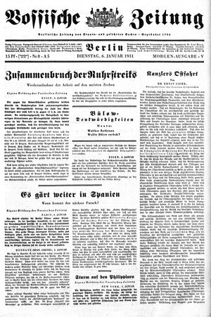 Vossische Zeitung on Jan 6, 1931