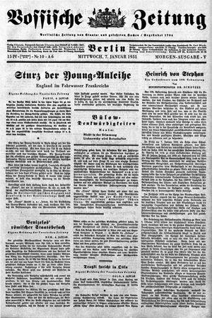 Vossische Zeitung vom 07.01.1931