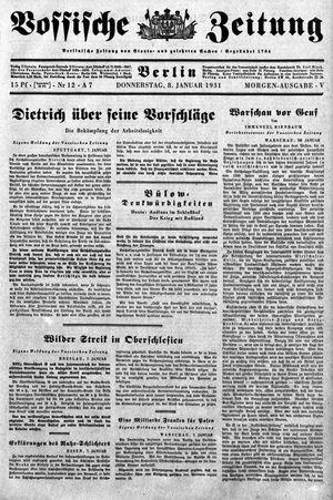 Vossische Zeitung on Jan 8, 1931