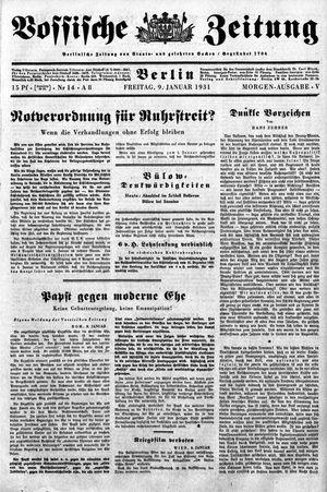 Vossische Zeitung vom 09.01.1931