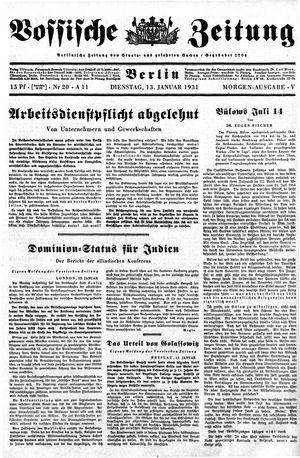 Vossische Zeitung vom 13.01.1931