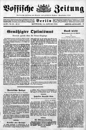Vossische Zeitung vom 14.01.1931