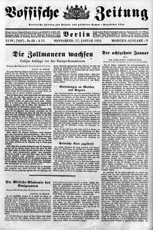 Vossische Zeitung vom 17.01.1931