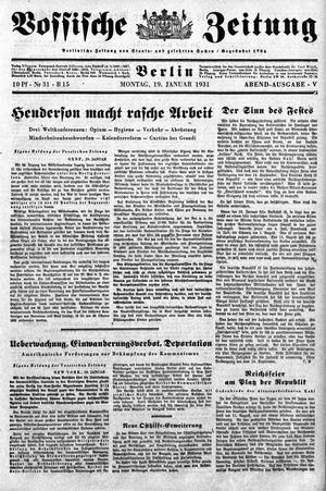 Vossische Zeitung vom 19.01.1931