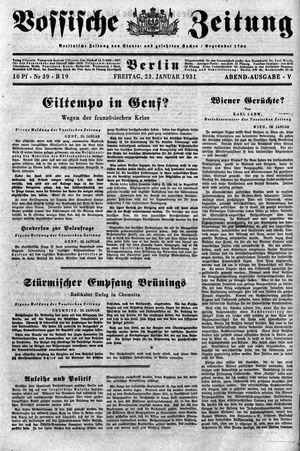Vossische Zeitung vom 23.01.1931