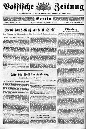 Vossische Zeitung vom 24.01.1931