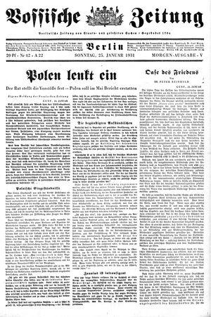Vossische Zeitung on Jan 25, 1931