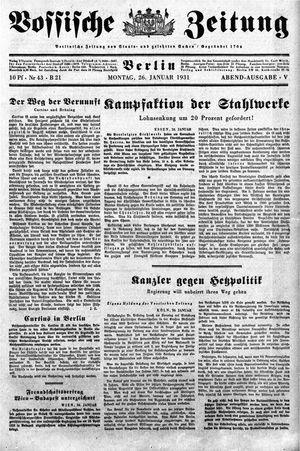 Vossische Zeitung vom 26.01.1931