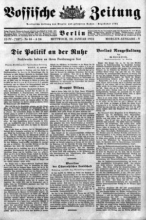 Vossische Zeitung vom 28.01.1931