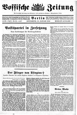 Vossische Zeitung on Jan 31, 1931