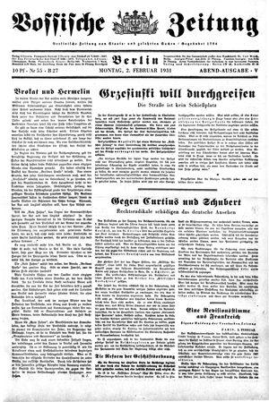 Vossische Zeitung vom 02.02.1931