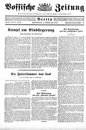Vossische Zeitung vom 04.02.1931