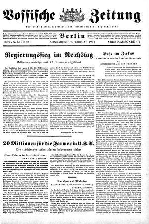 Vossische Zeitung vom 07.02.1931