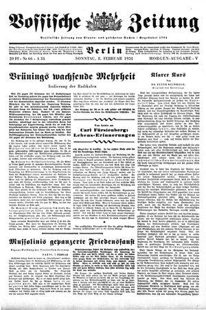 Vossische Zeitung vom 08.02.1931
