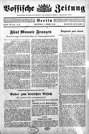 Vossische Zeitung vom 01.03.1931