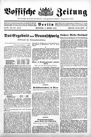 Vossische Zeitung vom 02.03.1931