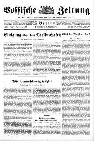 Vossische Zeitung on Mar 3, 1931