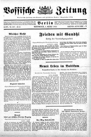 Vossische Zeitung vom 04.03.1931