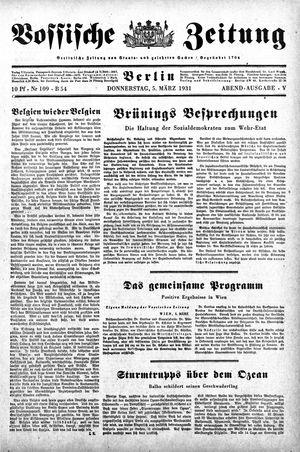 Vossische Zeitung vom 05.03.1931