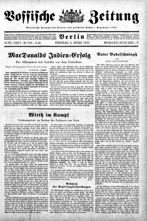 Vossische Zeitung vom 06.03.1931