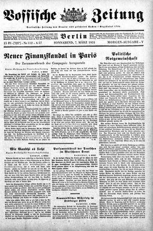 Vossische Zeitung vom 07.03.1931
