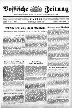 Vossische Zeitung vom 09.03.1931