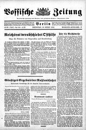 Vossische Zeitung vom 10.03.1931
