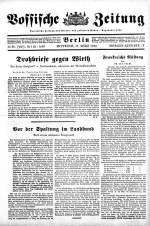 Vossische Zeitung vom 11.03.1931