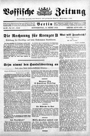 Vossische Zeitung vom 12.03.1931
