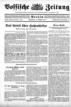 Vossische Zeitung vom 13.03.1931