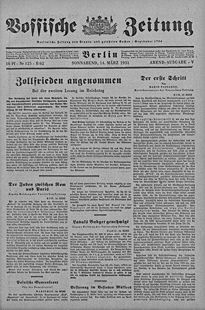 Vossische Zeitung vom 14.03.1931