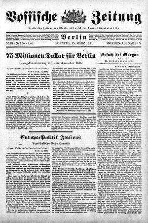 Vossische Zeitung on Mar 15, 1931