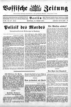 Vossische Zeitung vom 16.03.1931