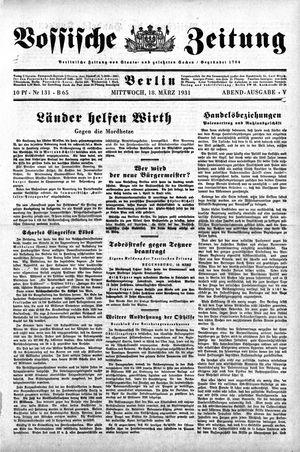 Vossische Zeitung vom 18.03.1931