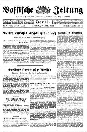 Vossische Zeitung vom 20.03.1931