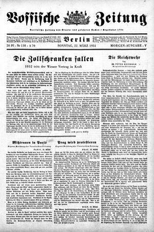 Vossische Zeitung vom 22.03.1931