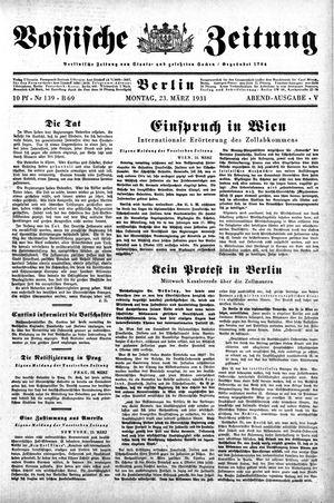 Vossische Zeitung on Mar 23, 1931
