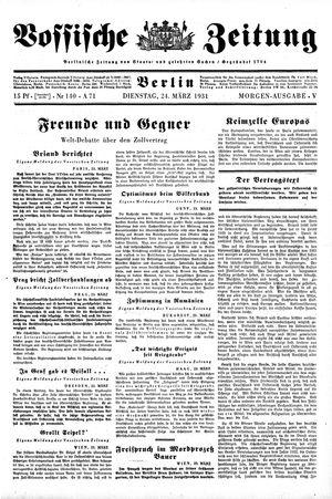 Vossische Zeitung vom 24.03.1931