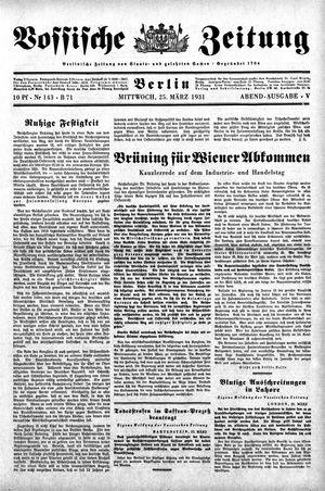 Vossische Zeitung vom 25.03.1931