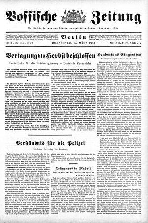 Vossische Zeitung vom 26.03.1931