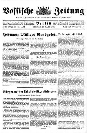 Vossische Zeitung vom 27.03.1931