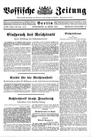 Vossische Zeitung vom 28.03.1931