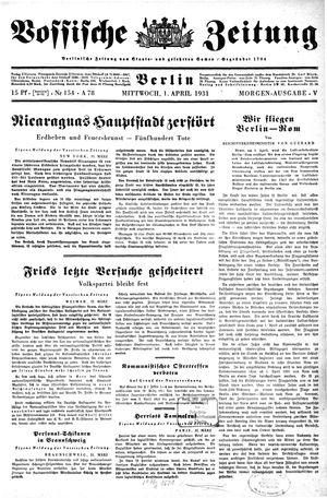 Vossische Zeitung vom 01.04.1931