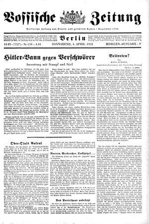 Vossische Zeitung vom 04.04.1931