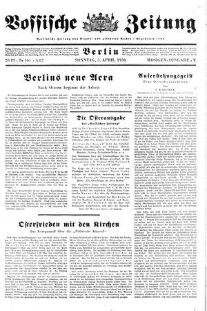 Vossische Zeitung vom 05.04.1931