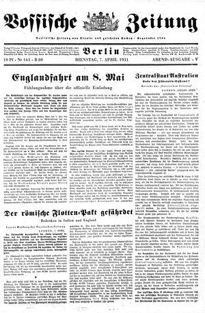 Vossische Zeitung vom 07.04.1931