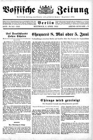 Vossische Zeitung vom 08.04.1931