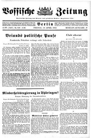 Vossische Zeitung vom 10.04.1931